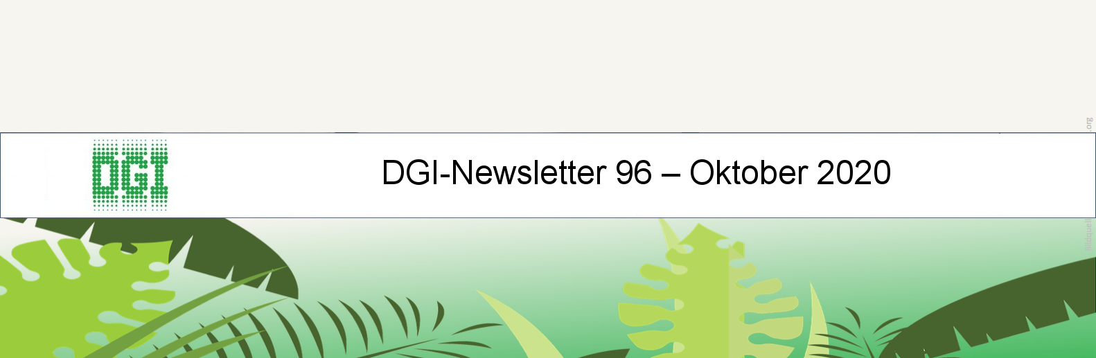 DGI-Newsletter 96 – Oktober 2020