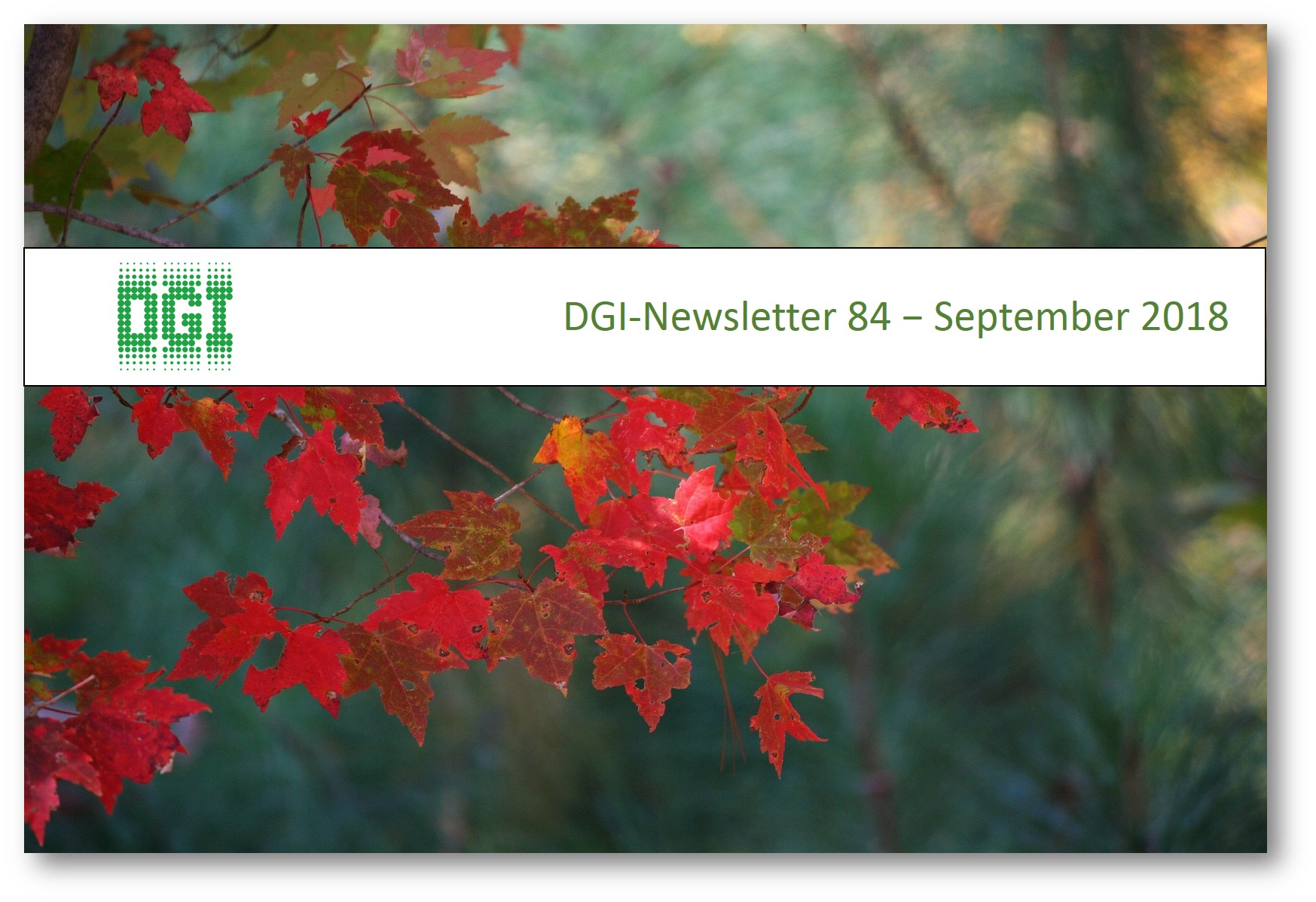 DGI-Newsletter 84 – September 2018